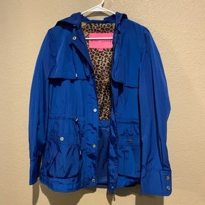Blue Betsey Johnson Rain Jacket